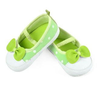 First Walker Baby Girls Green Bowknot Soft soled Shoes Skid Proof Shoes EP98