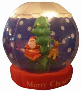 6' Airblown Inflatable Animated Santa Snow Globe Christmas Lighted Yard Art