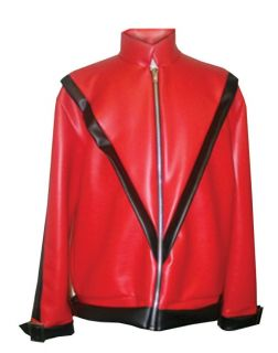 Thriller Michael Jackson Jacket 80's Pop Star Adult Mens Costume Red One Size
