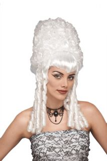 White Historical Tall Wig for Halloween Costume