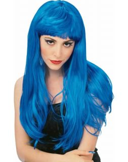 Blue Katy Perry Pop Star Halloween Costumes Wigs