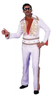 Elvis Presley White Eagle Jumpsuit Adult Mens Costume Rock N Roll Theme Party