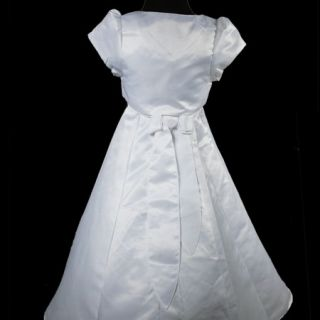 KD227 White Wedding Pageant Girl Flowers Dress Jacket 3 14T