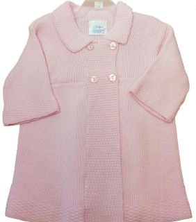 New Baby Girls Knit Sweater Coat Dress Hat Bonnet Preppy Pink Babys Trousseau