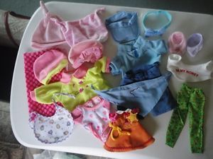 Huge Lot Doll Clothes Dora Barbie Baby Doll Teddy Bear Misc Shoes Acces
