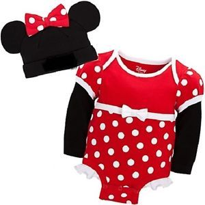 Minnie Mouse Cuddly Red Bodysuit Cap NWT 0 24M 2yrs Costume  Junior