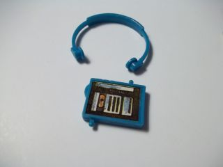 Vintage 80's Barbie Doll Walkman Headphones Radio Tape Player Toy Accessory