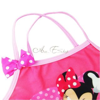 Girls Kids Minnie Mouse Swimsuit Mini Skirt Swimwear Tankini Costume 2pcs Sz 4 5