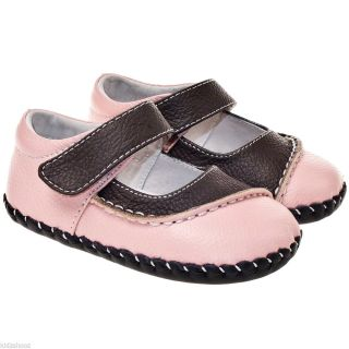 Little Blue Lamb Girls Infant Toddler Leather Soft Sole Baby Shoes Pink Brown