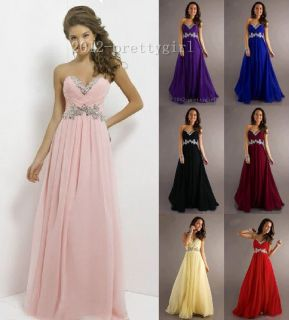 Women's Prom Dress Evening Formal Party Ballgown Bridesmaid Dress 6 18 in Stock