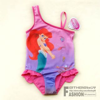 Toddler Size 6 6T Girls Disney Princess Ariel Mermaid Swimsuit Swimwear Bathing