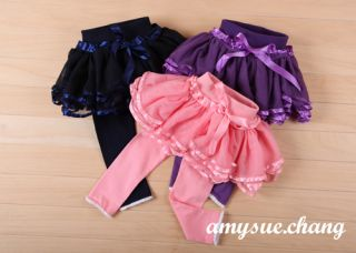 1pc Baby Girls Kids Tutu Skirt Pants Bottoms Pantskirt Outfit Clothes 2 3Y Pink