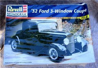 Revell 85 7605 1 25 Scale Model 1932 Ford 3 Window Coupe Kit Factory SEALED