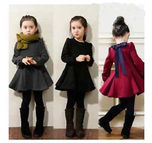 New Fashion Baby Girls Dress Thick Warm Winter Kids Children Clothes Dresses
