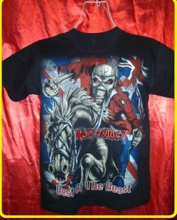 Iron Maiden Concert Shirt Eddie Killers Metallica Trooper Megadeath Motley Crue