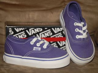 Vans Authentic Purple Toddler Girls Shoes Size 5 5