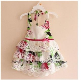 2014 Baby Girls Lace Dresses Children Princess Flower Dresses Kids Tutu Dress