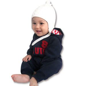 Made in Korea Eight Napping Baby Boy Girl Infant Warm Clothing OA 1036 Navy