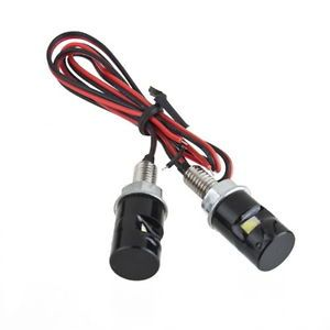 2 Pcs 12V Motorcycle Car White SMD LED License Plate Stud Screw Bolt Light Lamp