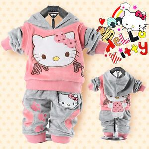 Cute Baby Girl Winter Fall Autumn Outfit Set Suit Hoody Coat Outerwear Clothes