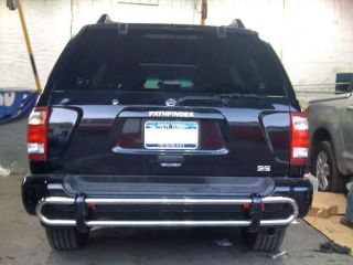 96 04 Nissan Pathfinder Infiniti QX4 SS Rear Bumper Guard Double Pipe Bar Tube