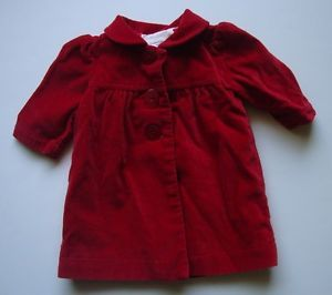 Carter's Red Pea Coat Dress Jacket Newborn Baby Girl Clothes Christmas Holiday