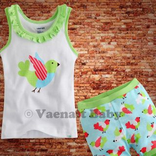 "Vaenait Baby Kids Girl Clothes Top Shorts Outfit Sets""One Point Green""12 24M"
