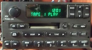 01 2001 Lincoln Towncar Alpine Cassette Tape Player Am FM Radio Factory