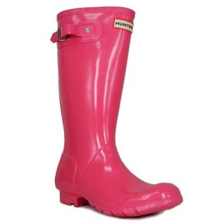 New in Box Hunter Rain Boots Fuchsia Pink Gloss Kids Girls Youth Pick Size