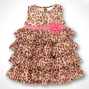 Baby Kids Toddler Girl Dress Clothes Pettiskirt Tutu Skirt Leopard 1 2Year NL00