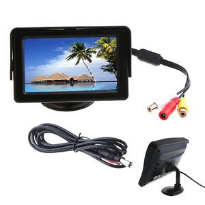 "New 4 3"" TFT LCD Color Auto Car Rearview Monitor Reverse DVD VCR Camera"