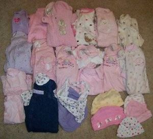 24 PC Lot Baby Girls Fall Winter Clothes Size 0 3 3 Month Newborn 2