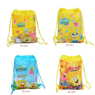 Spongebob Friends Kids Drawstring Backpack School Bag Party Gift Swimming Gym