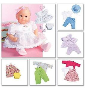 "Bitty Baby Doll Clothes Baby Alive 5 Styles McCall Pattern 4338 Sz 11 13"" 14 16"""