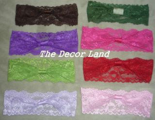 Wholesale Lot 10 Lace Headbands Infant Girls Baby Toddler ASTD Colors Photo Prop