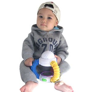 Made in Korea Seventy Napping Baby Boy Girl Infant Warm Clothing OA 1035 Gray