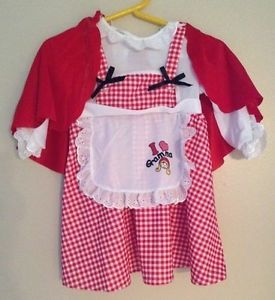 Little Red Riding Hood Halloween Costume Toddler 4 6 California Costumes RARE