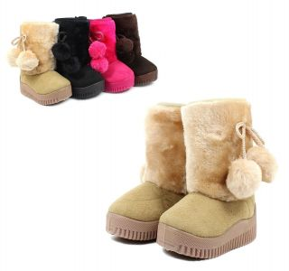 4 Color Casual Cute Baby Toddlers Kids Girls Snow Boots Shoes New Without Box