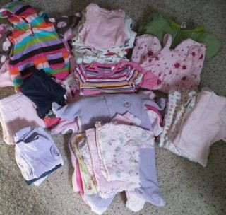 Huge 64 Piece Lot of 0 3 3 Month Baby Girl Clothing