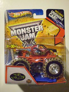 Hot Wheels 2013 Monster Jam 1 64 The Felon Mud Trucks Tire Treads Crushable Car