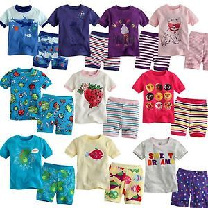 "Baby Toddler Kid's Clothes Boys Girls Sleepwear Pajama Size 12M 4T ""Short"""