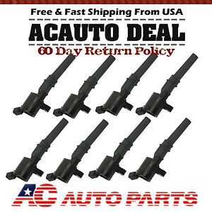 Set of 8 Ignition Coils on Plug Pack for 2006 2011 Ford Lincoln Mercury V8 DG508