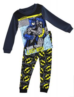 "New Baby Toddler Clothing Kids Boys' Sleepwear ""Batman "" Pajamas Set 2 7Y"