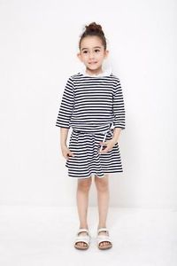 Girls Kids Stripped Dress Children Clothes Tops T Shirt Toddler Girl Dress 3 YS