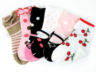 6 PR New Toddler Baby Girl Mary Jane Socks 12M 24M S58