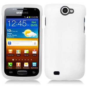 White Rubberized Hard Case Cover Samsung Galaxy Exhibit II 2 4G T679 Accessory