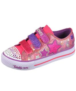 "Skechers ""Star Flash"" Twinkle Toe Sneakers Girls Youth Sizes 11 3"
