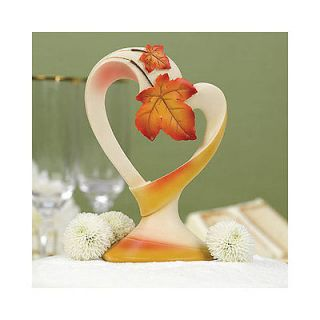 Fall Wedding Cake Toppers Maple Leaf Heart Shaped Wedding Cake Topper Tops