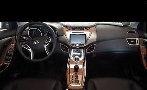 Elantra Hyundai GL GLS Interior Burl Wood Dash Trim Kit Set 2011 2012 2013