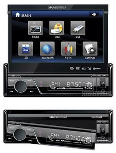"Soundstream Vir 7830B 7"" Touch Screen Monitor Car DVD CD  USB Player Blutooth"